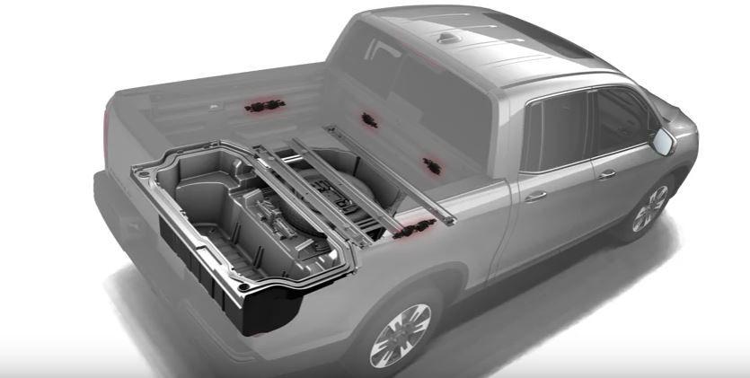 Comment utiliser la Chaîne sonore intégrée à la caisse du Honda Ridgeline 2017