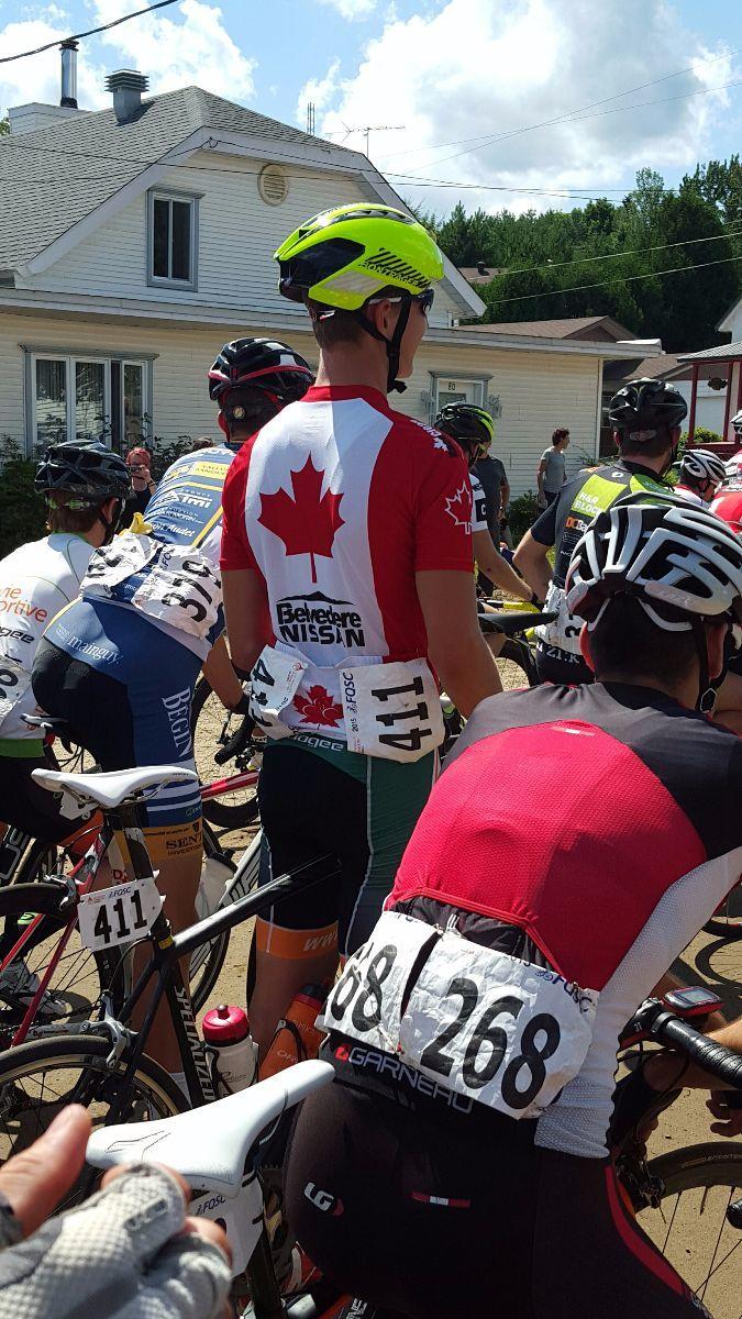 Adam Roberge aux championnats du monde junior de cyclisme sur route