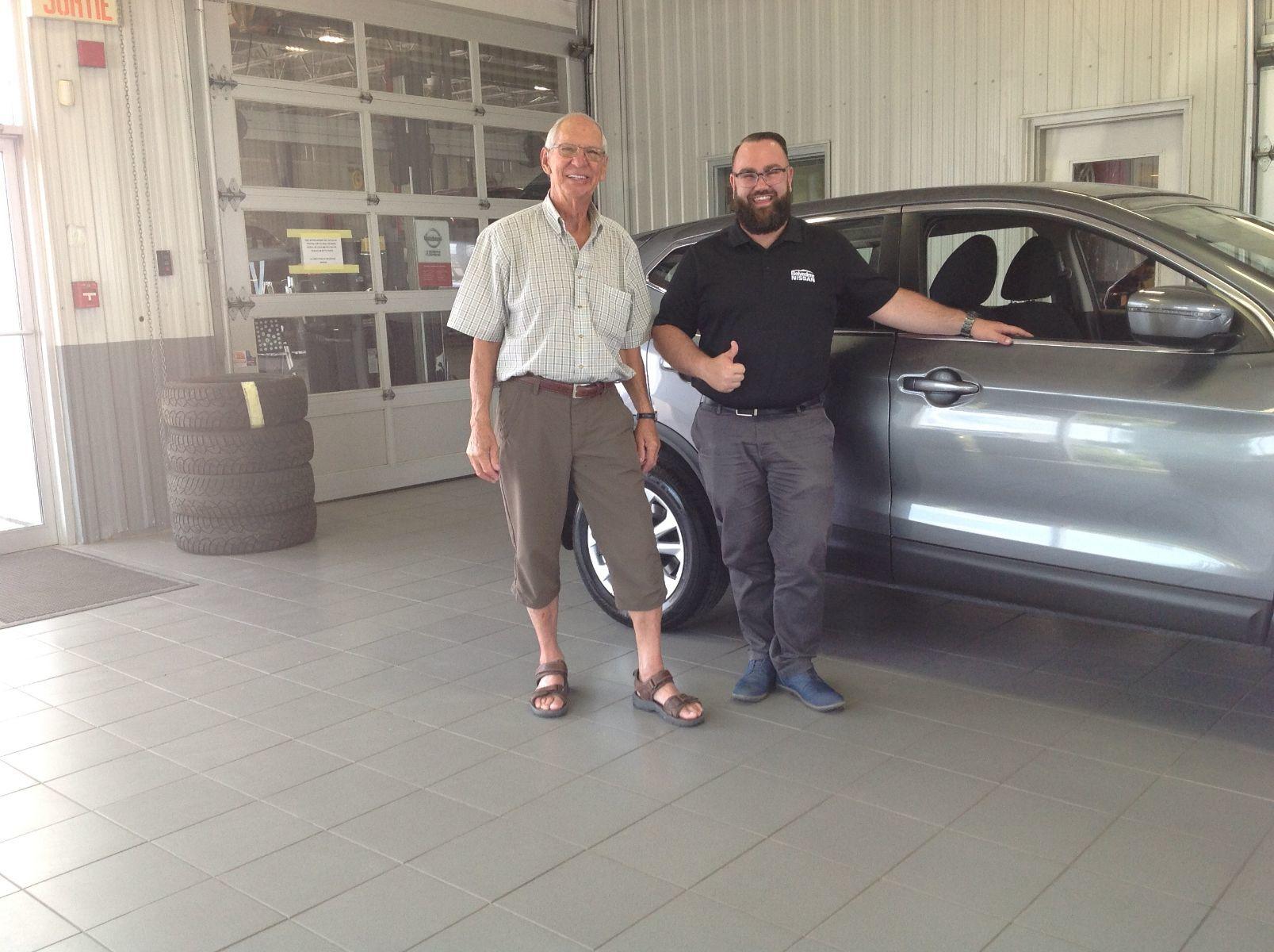 Merci à M.Jean Robert Papillon de Saint-Hippolyte pour l'achat de son nouveau Nissan Qashqai 2019!