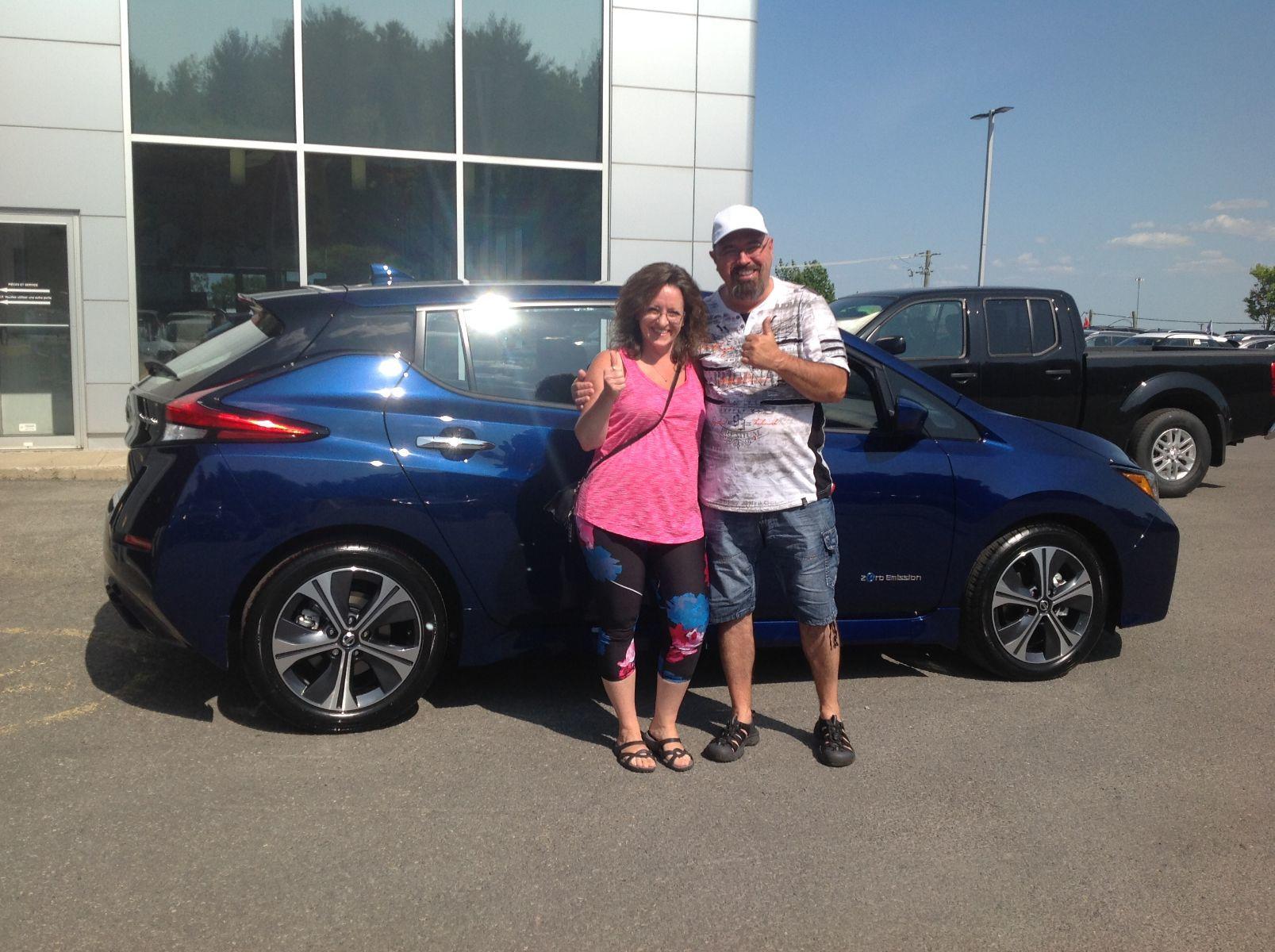 Merci à M. Richard et Mme Comtois de Ste-Sophie pour l'achat de leur fabuleuse Nissan Leaf 2019!