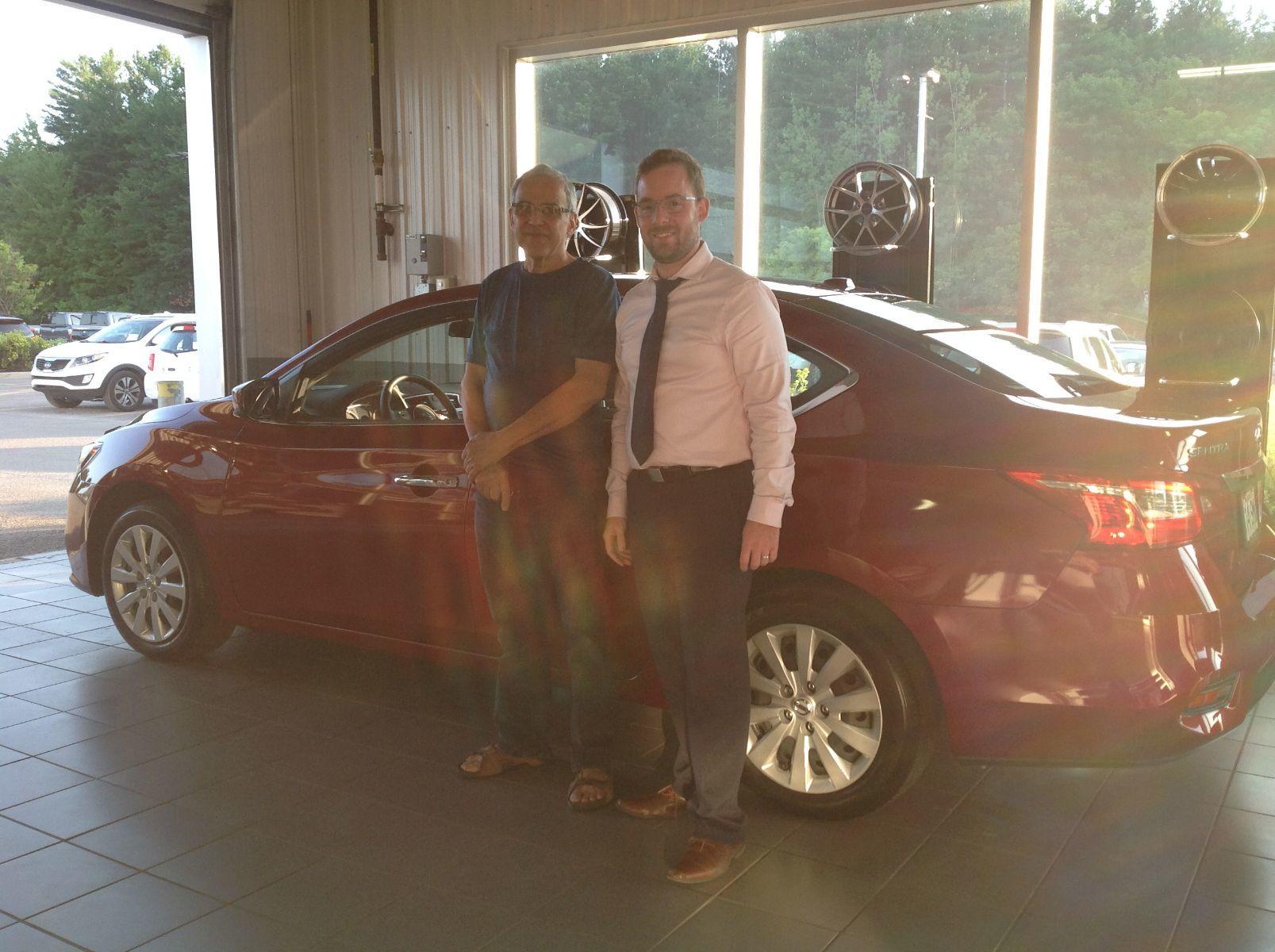 Merci à M. Jean Paul Sergerie de Saint-Jérôme pour l'achat de sa nouvelle Nissan Sentra 2019!