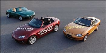 The Mazda MX-5 will set a new Guinness Record