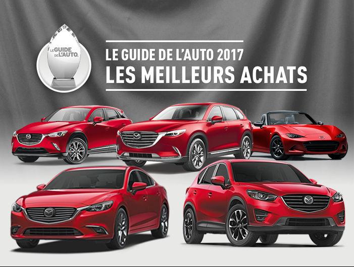 Mazda rafle les honneurs avec le Guide de l'auto 2017!