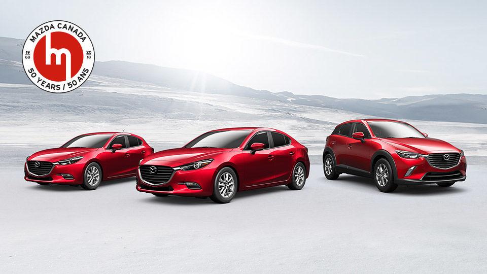 Mazda Canada fête ses 50 ans en offrant 3 modèles spéciaux