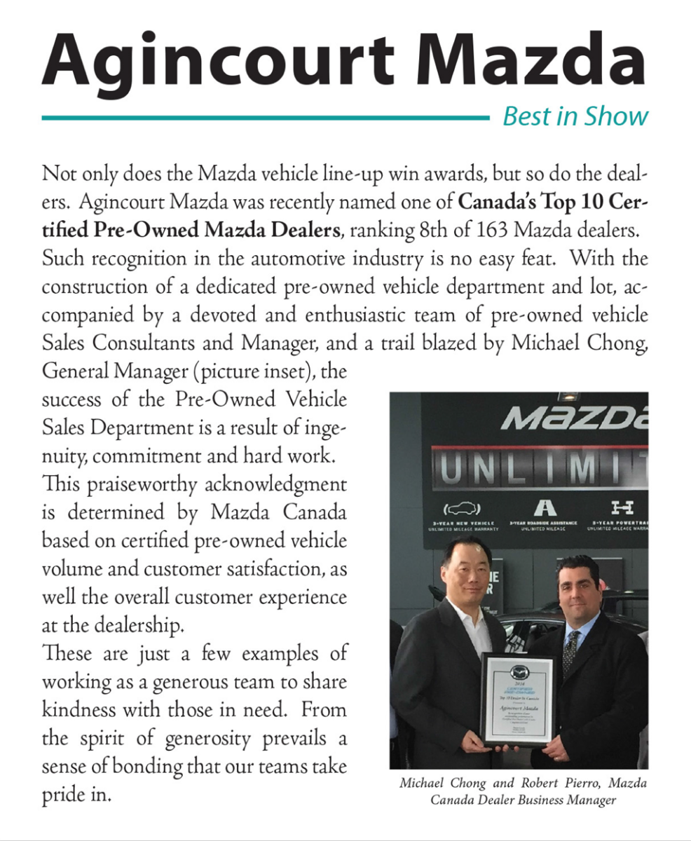 Canada's Top 10 Certified Pre-Owned Mazda Dealers