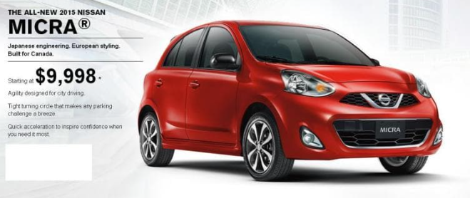 2015 Nissan Micra Headed For Canadian Showrooms