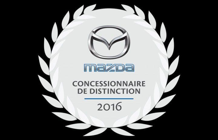 "Winner of the ""Dealer of Distinction Mazda 2016"" prize"