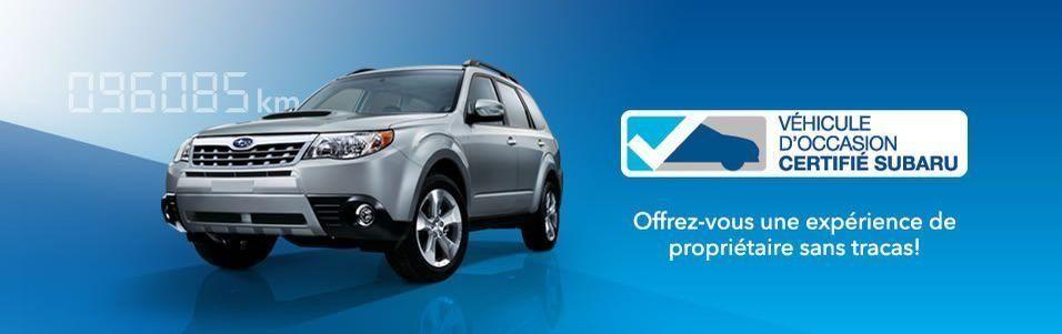 Véhicules d'occasion certifiés Subaru, ce que ça veut dire!