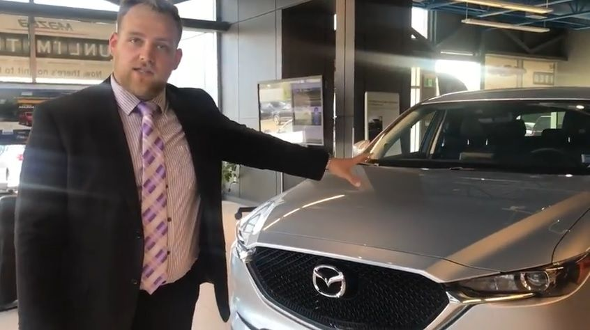 Mazda Matt demonstrates the 2017 CX-5