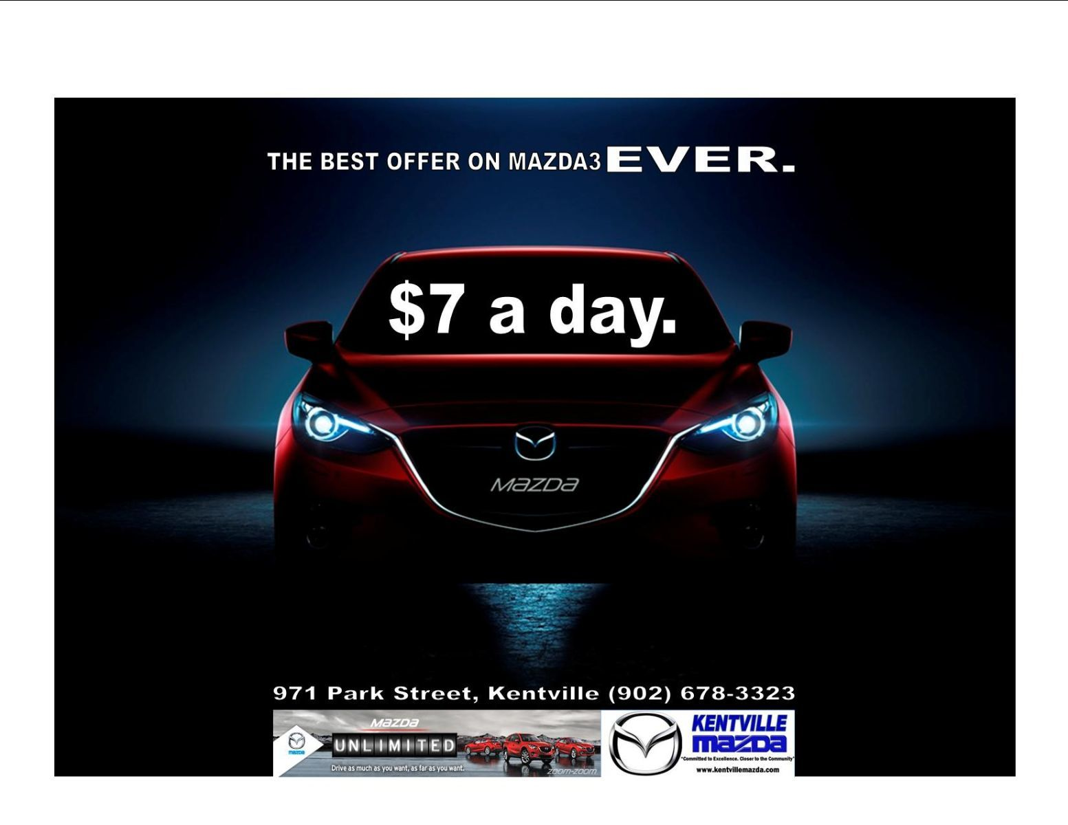 2015 Mazda3 FOR LESS THAN $7 A DAY!