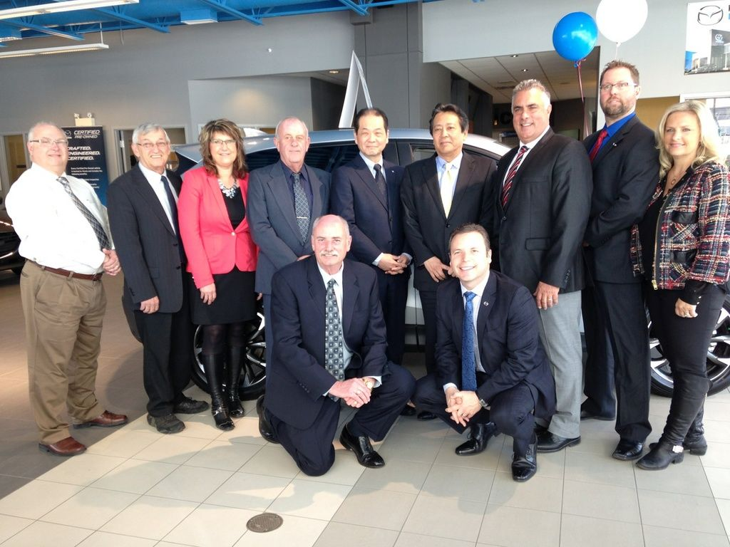 Kentville Mazda Welcomes Presidents of Mazda Global and Mazda Canada