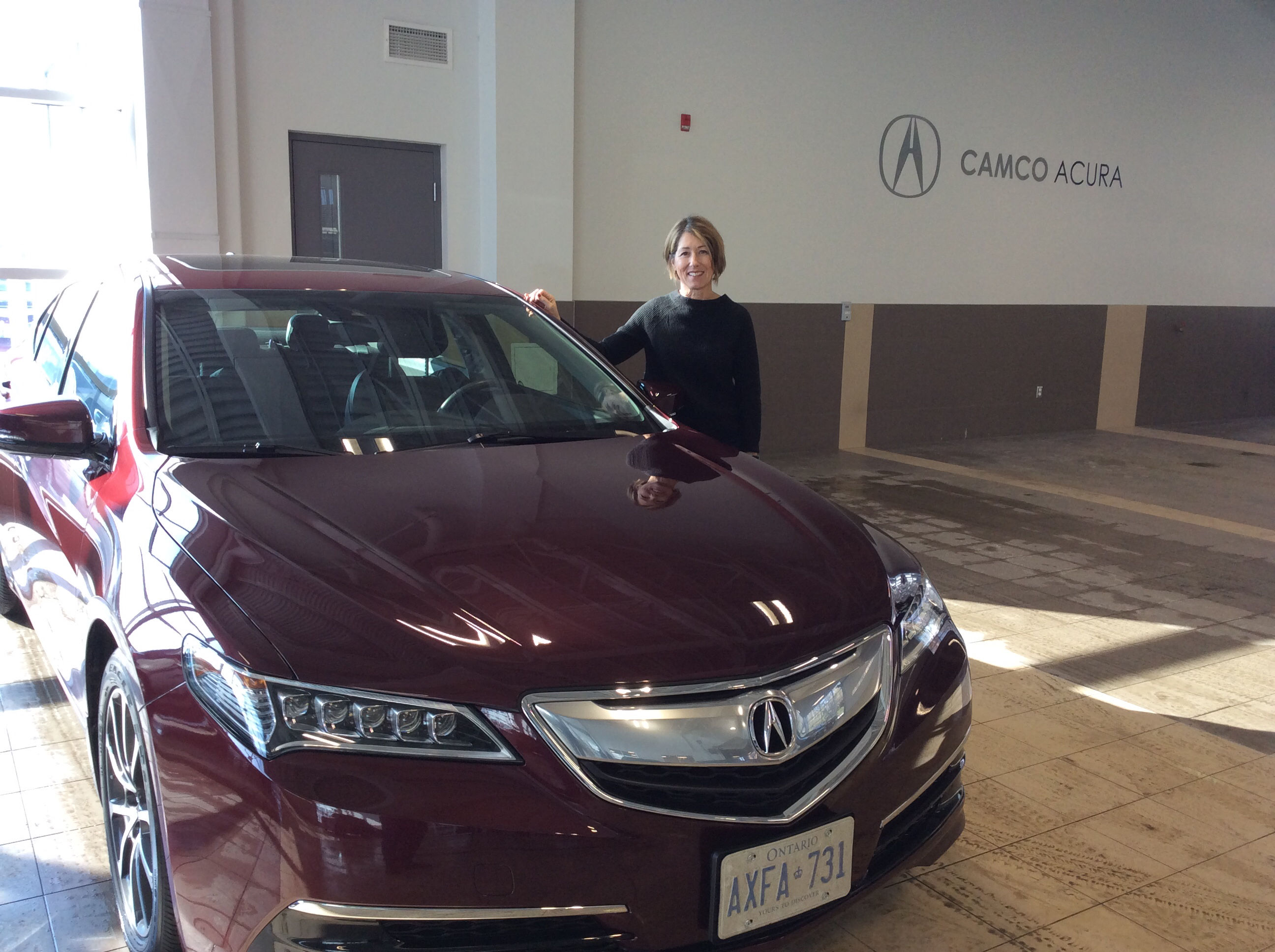 thanks chris by susan camco acura in ottawa