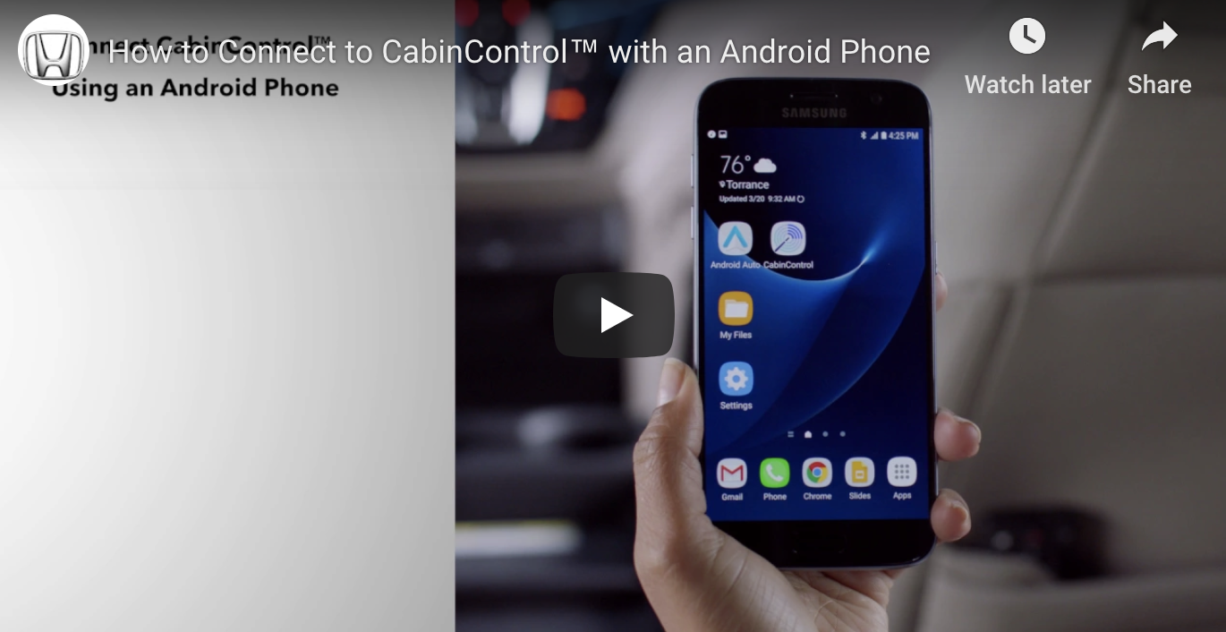 How to Connect to CabinControl™ with an Android Phone