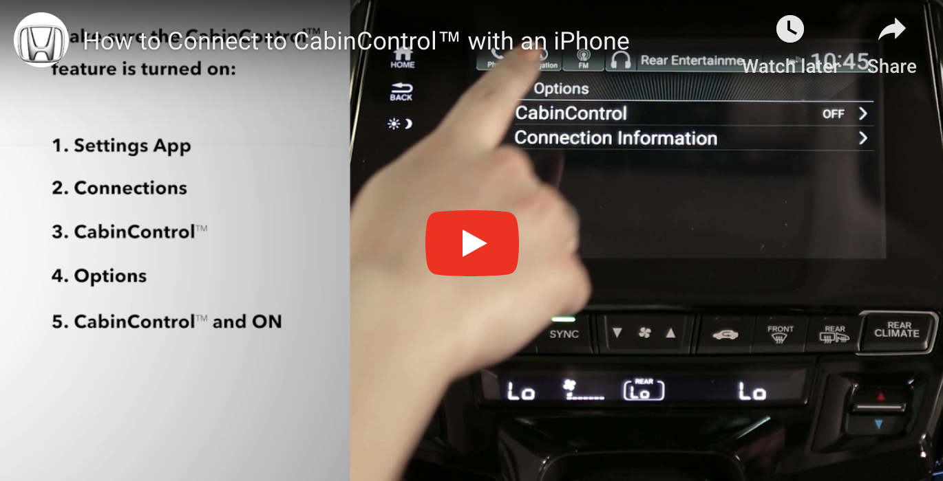How to Connect to CabinControl™ with an iPhone