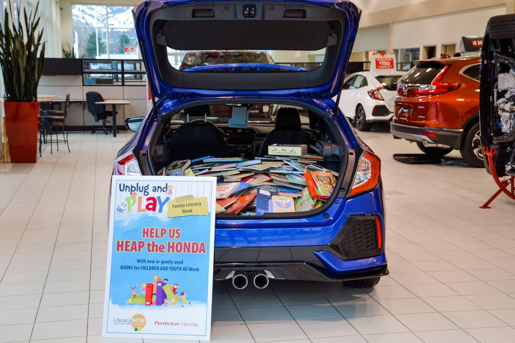 Penticton Honda 'Heaps a Honda' for Literacy Day