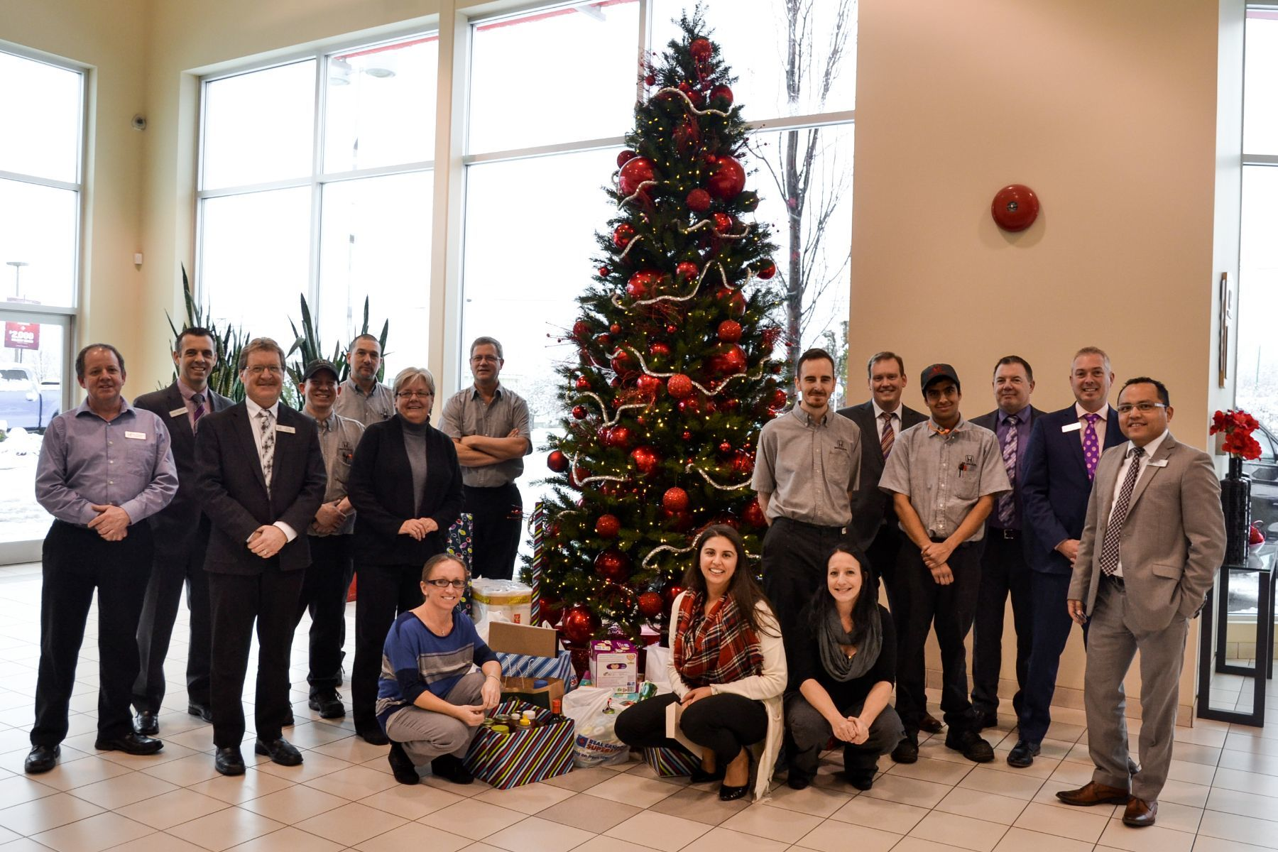 Penticton Honda and Penticton Hyundai Annual Christmas Gifts for a Local Family in Need
