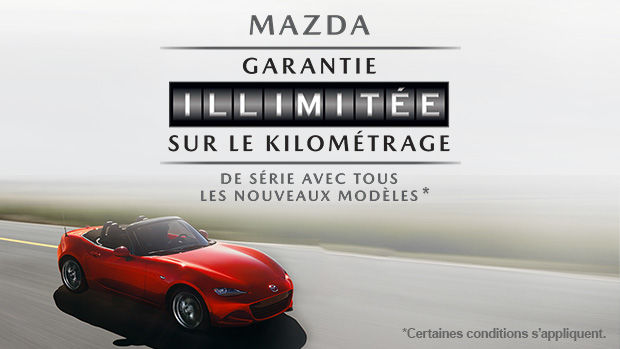 La Garantie kilométrage illimité de Mazda