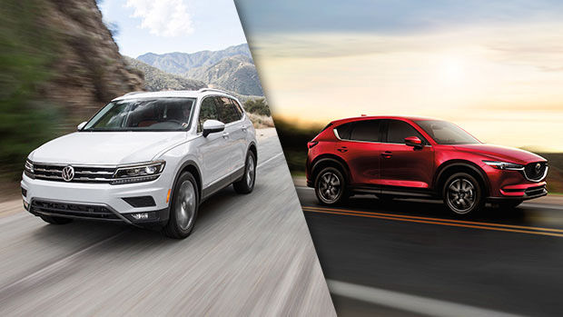 2018 Volkswagen Tiguan vs. 2018 Mazda CX-5 in Lachine