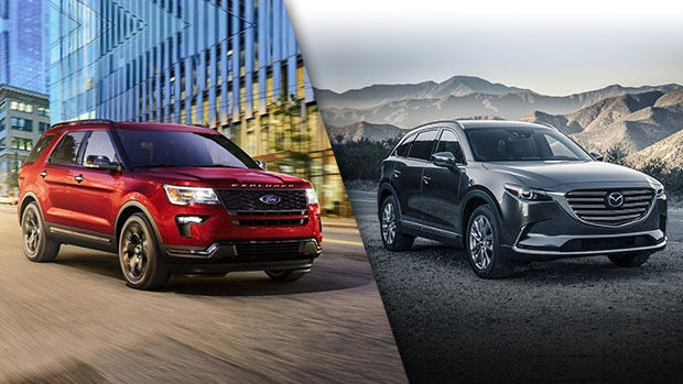 2019 Ford Explorer vs. 2019 Mazda CX-9 Review in Montreal