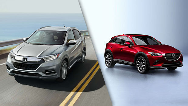 2019 Honda HR-V vs. 2019 Mazda CX-3 in Montreal