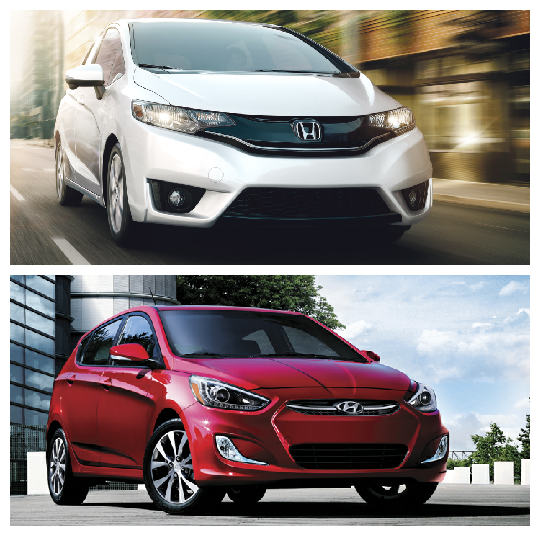 Comparing the Honda Fit and the Hyundai Accent