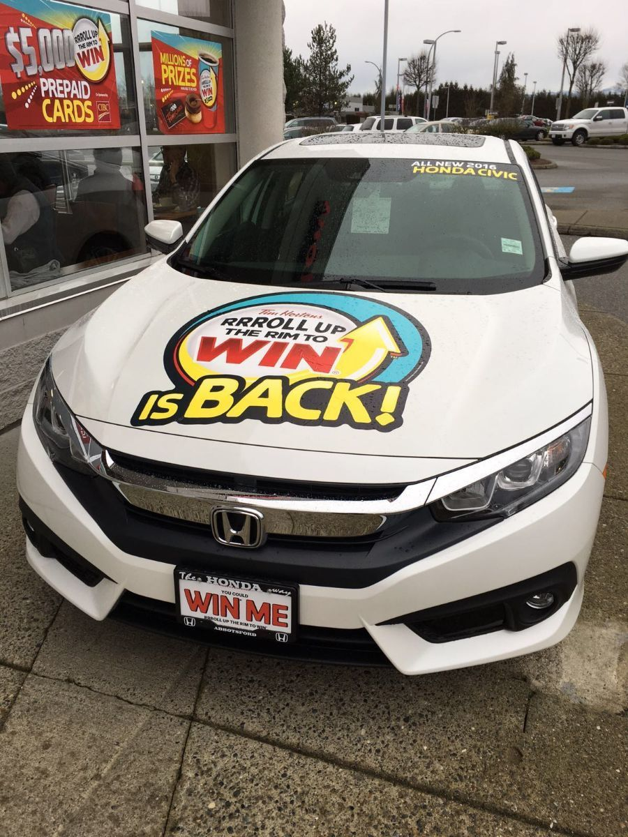 Roll up the Rim to Win! 40 2016's Honda Civics to Be Won! Featured