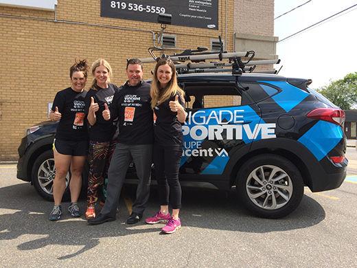 La Brigade Sportive Groupe Vincent continue sa tournée des entreprises!