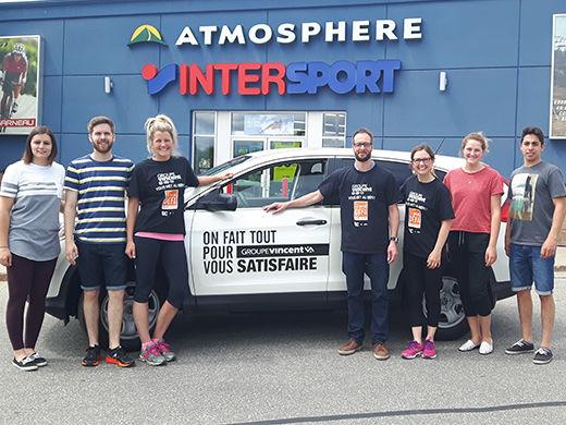 Étiquettes Unik et Intersport Shawinigan visités par la Brigade Sportive Groupe Vincent