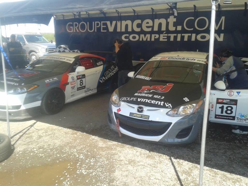 Deuxième étape du championnat SPC en course automobile pour Carl Nadeau et Jeff Boudreault