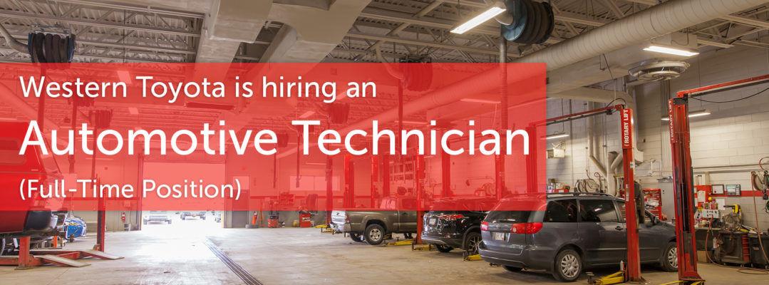 We're Hiring an Automotive Technician (Full-Time)