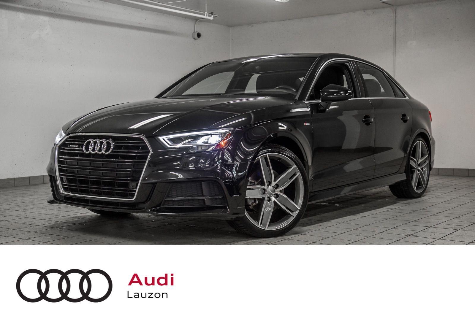 Audi Lauzon Pre Owned 2018 Audi A3 Sedan Progressiv Navigation S Line 19 Pouces For Sale In Laval