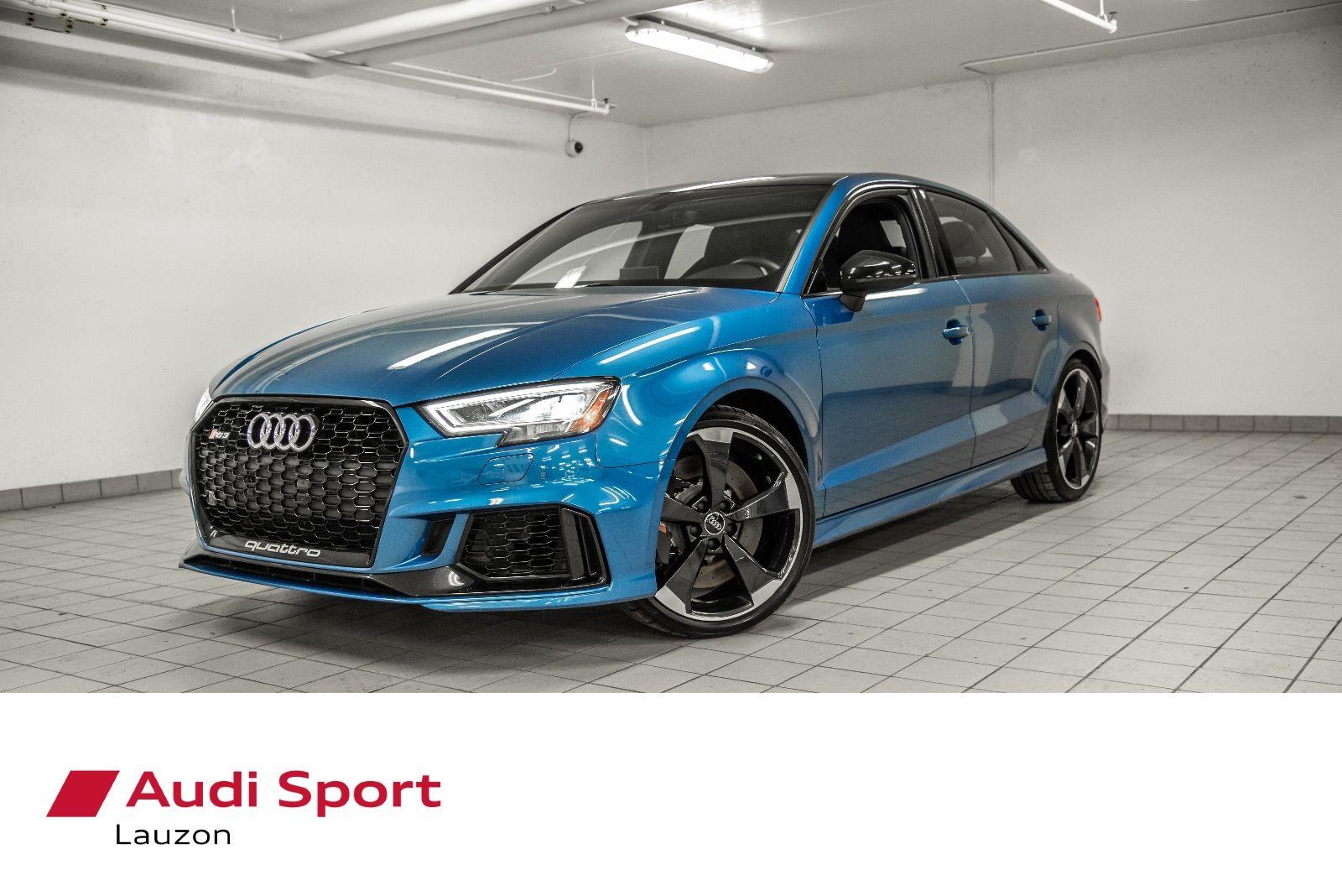 Audi Lauzon Pre Owned 2018 Audi Rs 3 Sedan Black Optics Sport Exhaust 19 Pcs Rotor For Sale In Laval