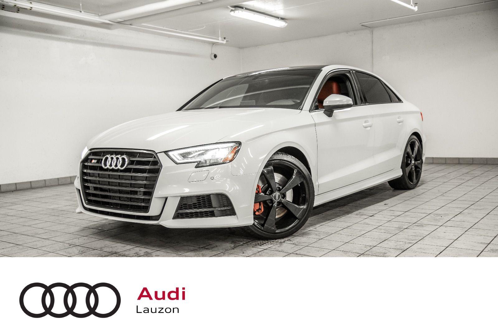 Audi Lauzon Pre Owned 2019 Audi S3 Sedan Technik Black Optics Advance Handling Rotor For Sale In Laval
