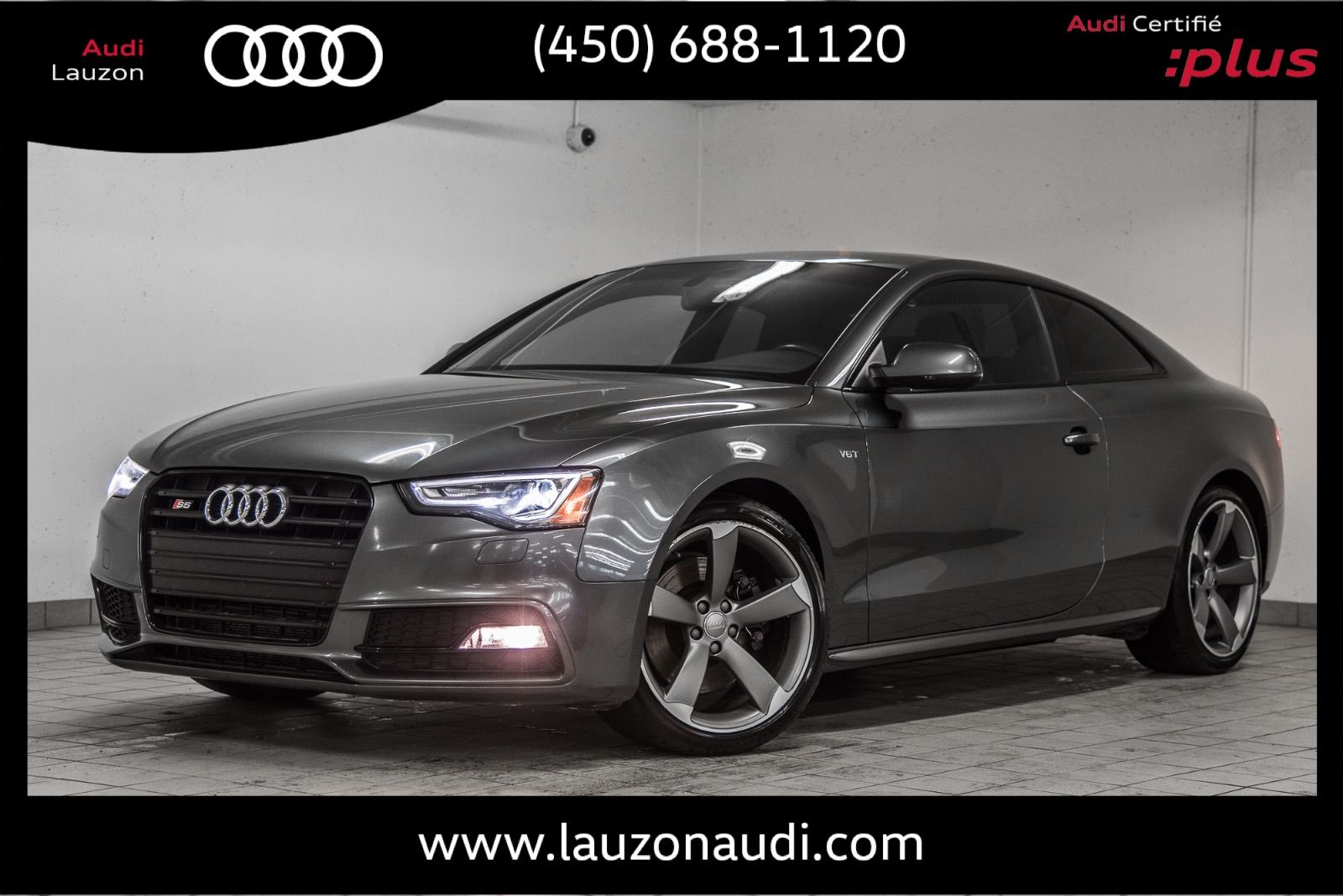 Audi Lauzon Pre Owned 2016 Audi S5 Progressiv Plus Black Optics Carbon Rotors For Sale In Laval