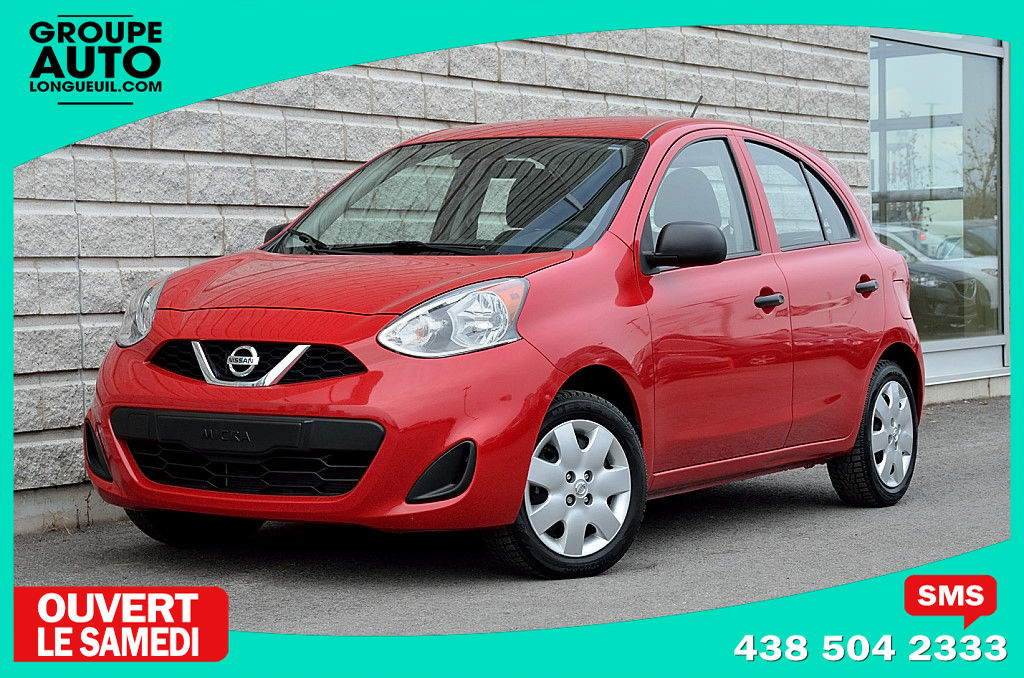 longueuil mazda pre owned 2015 nissan micra s rouge 28000km 1 proprio for sale. Black Bedroom Furniture Sets. Home Design Ideas