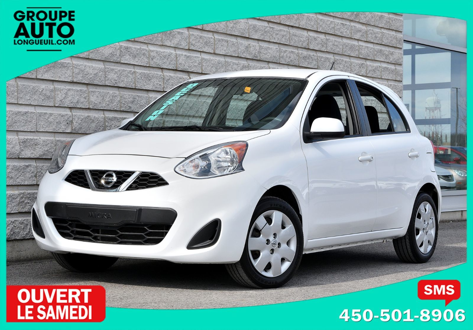 2015 nissan micra sv autom a c blanche 47000km d 39 occasion longueuil inventaire d 39 occasion. Black Bedroom Furniture Sets. Home Design Ideas