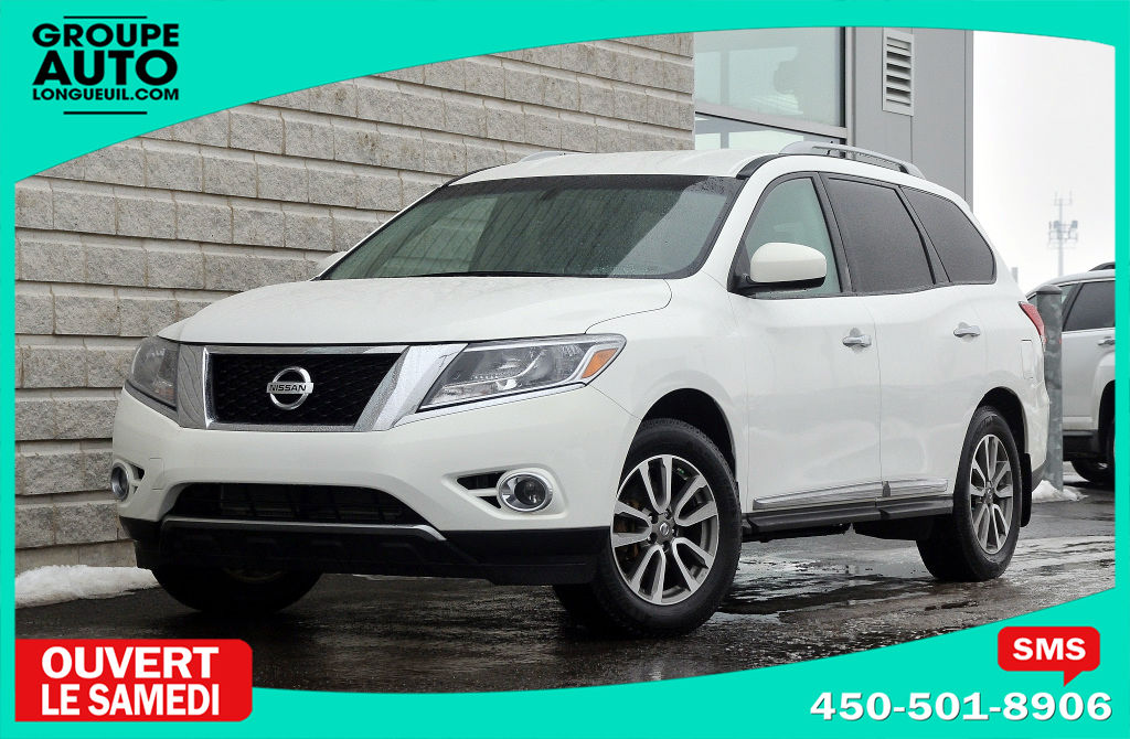 2014 nissan pathfinder sl 4x4 cuir 7 passagers blanc d 39 occasion longueuil inventaire d. Black Bedroom Furniture Sets. Home Design Ideas