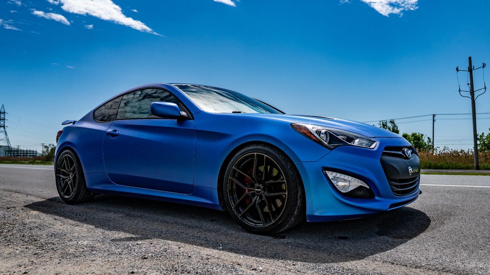 Genesis Coupe 2016 >> 2016 Hyundai Genesis Coupe 3 8l R Spec Wrap Custom Flip Glacial Blue