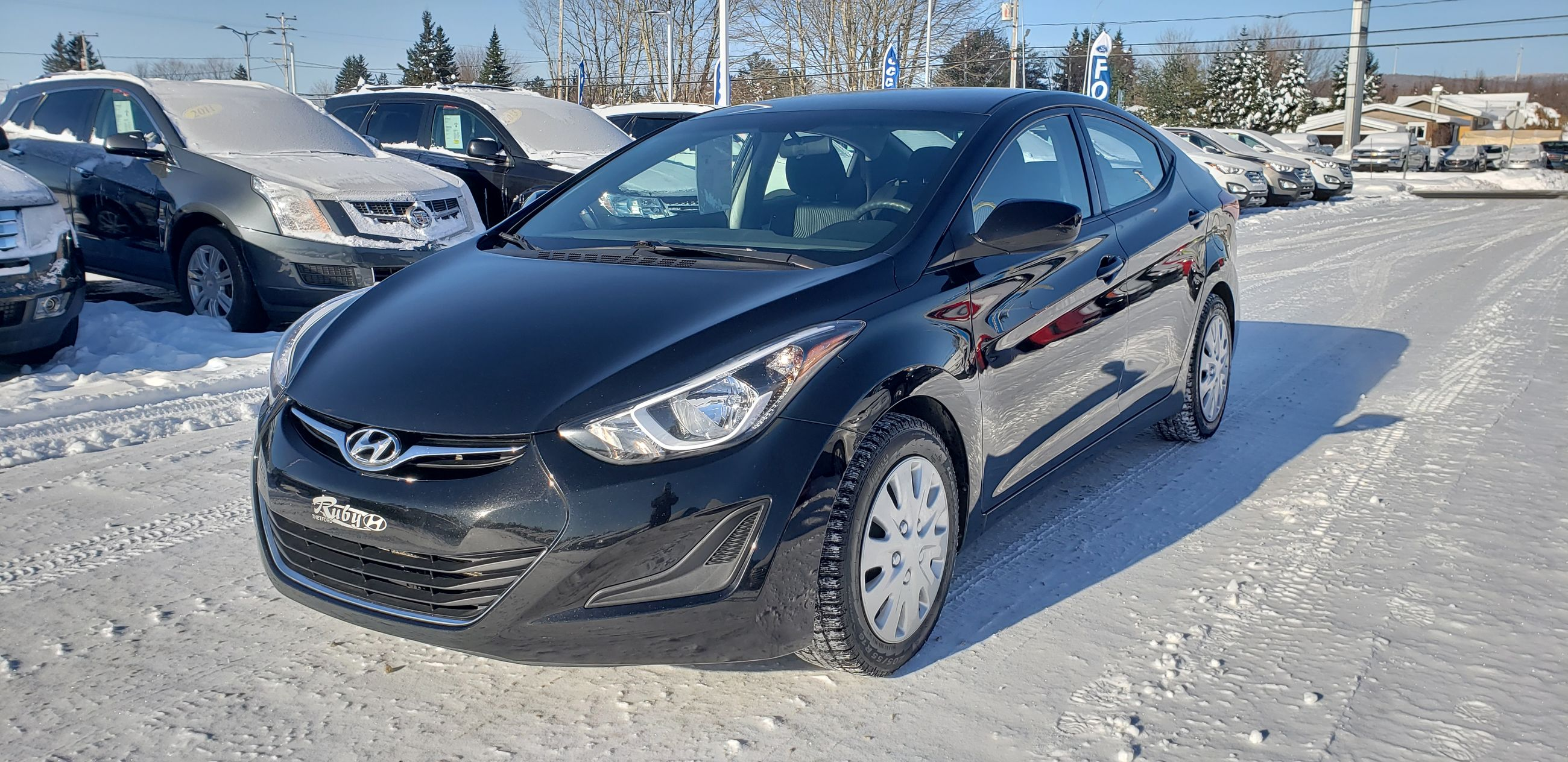 Used 2015 Hyundai Elantra GL, BLUETOOTH, DÉMARREUR À DISTANCE, AIR in  Thetford Mines - Used inventory - Ruby Hyundai in Thetford Mines, Quebec