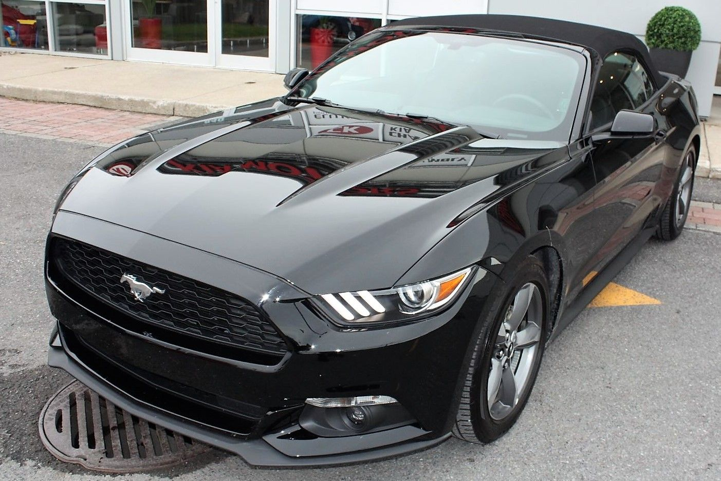 used 2016 ford mustang convertible 3 7l v6 convertible auto 105 semaine black for sale. Black Bedroom Furniture Sets. Home Design Ideas