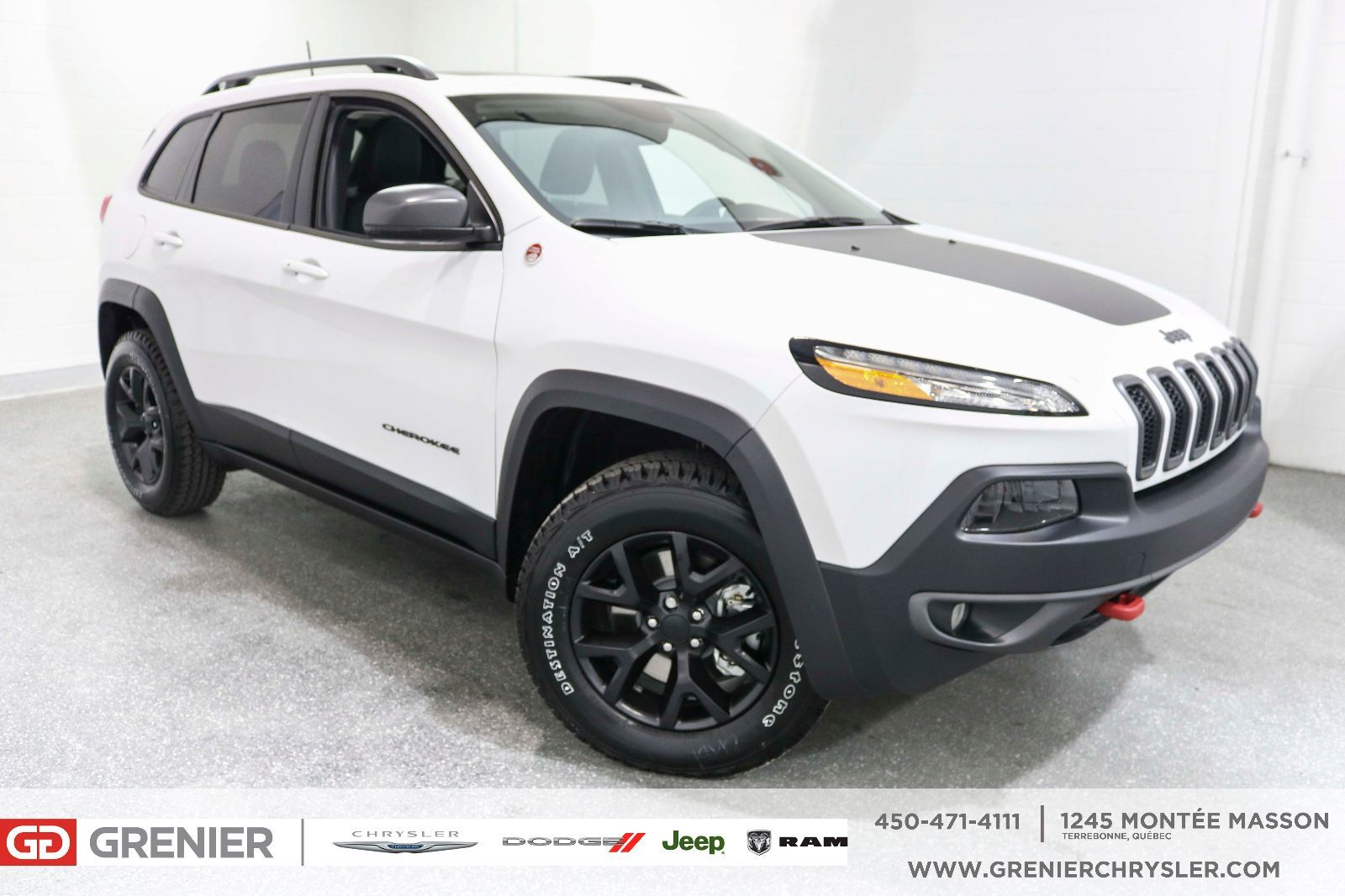 Used 2017 Jeep Cherokee Trailhawk Toit Nav Cuir Full Loaded White