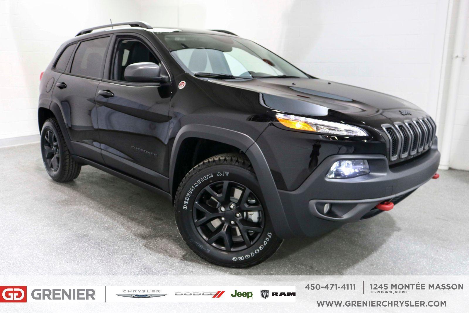 New 2018 Jeep Cherokee Trailhawk / crochet remorquage / rétro chauffant Black - $37350.0 ...