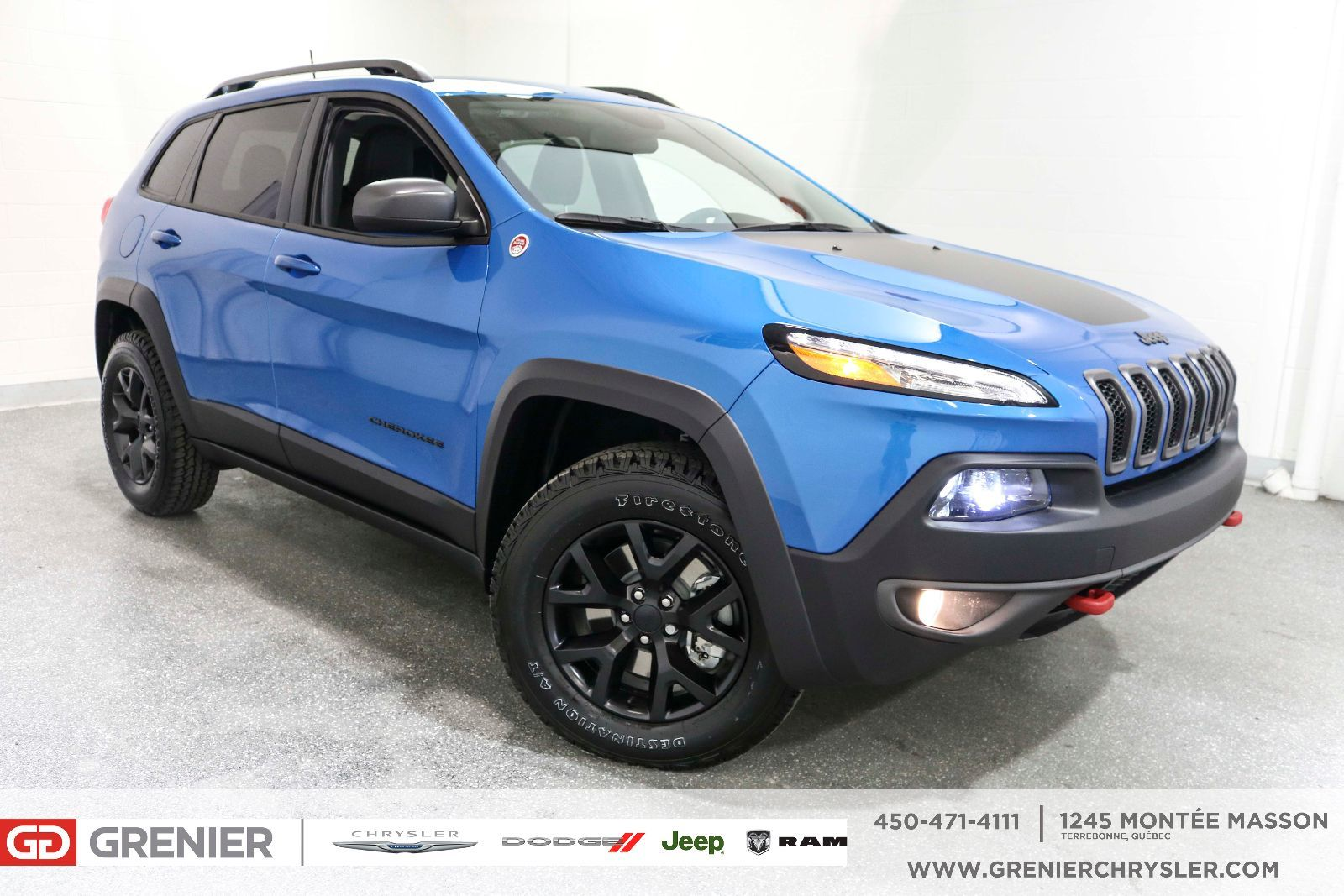 New 2018 Jeep Cherokee Trailhawk Cuir Ecran 8 4 Tactile