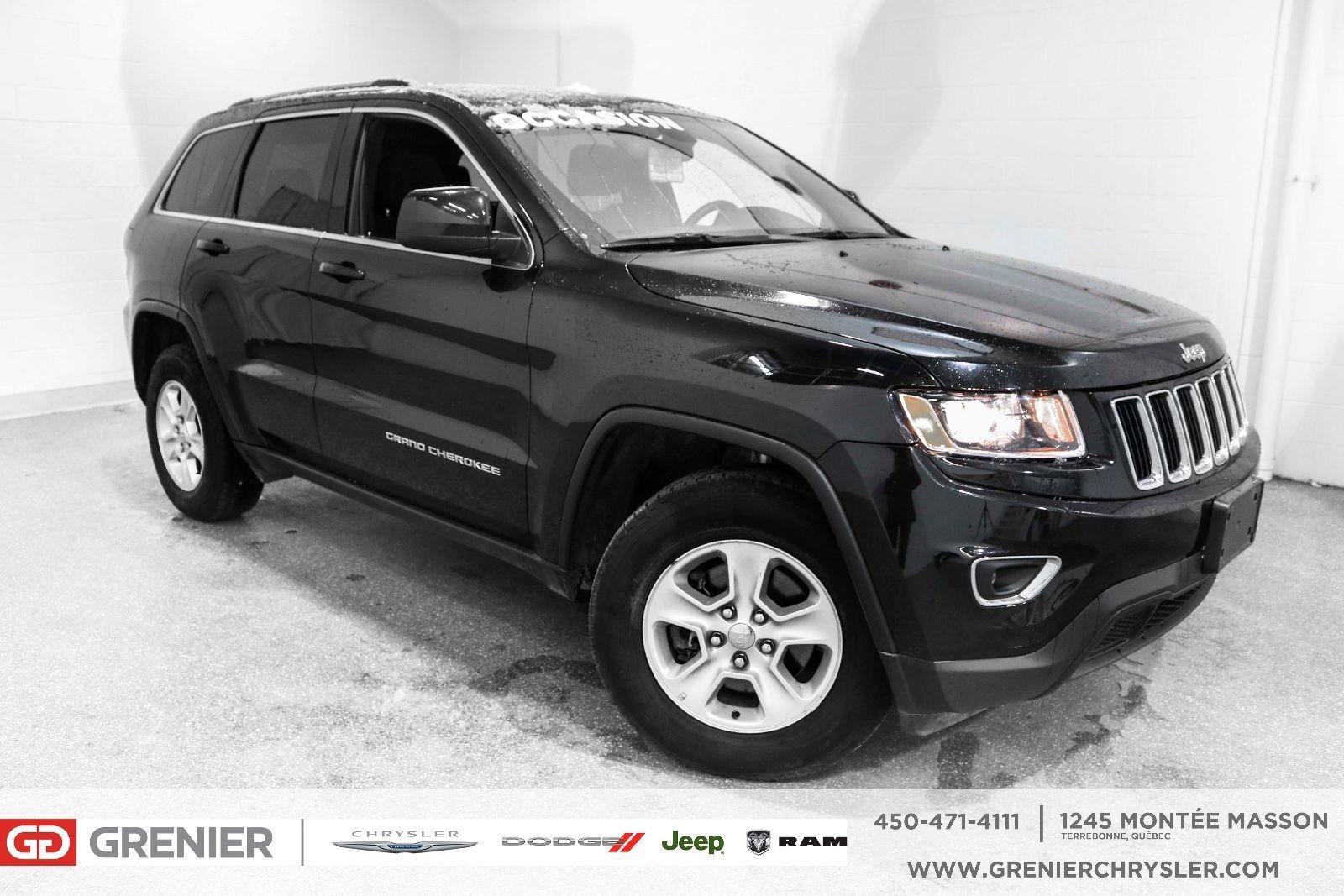 jeep grand cherokee bas km 4x4 v6 garantie 2016 noir 44 304 km 26477 0 grenier chrysler. Black Bedroom Furniture Sets. Home Design Ideas