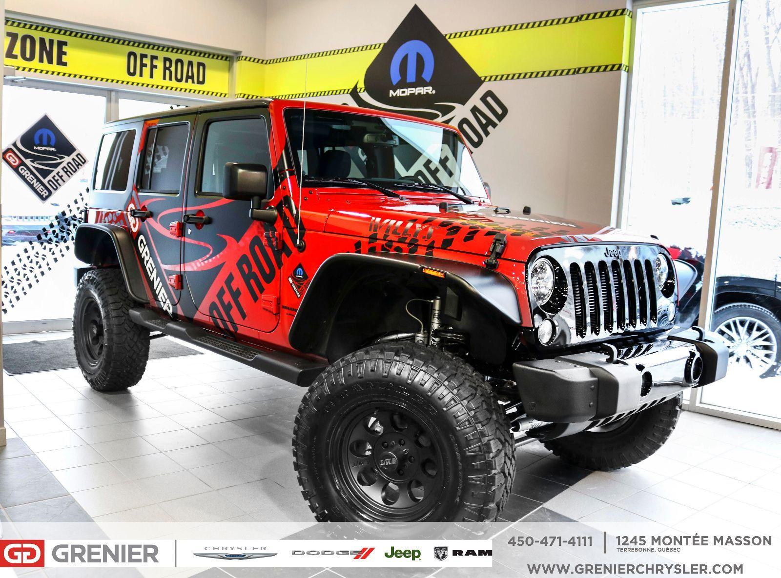 jeep wrangler jk unlimited 2018 n d 59995 0 grenier chrysler dodge jeep 18 1085m. Black Bedroom Furniture Sets. Home Design Ideas