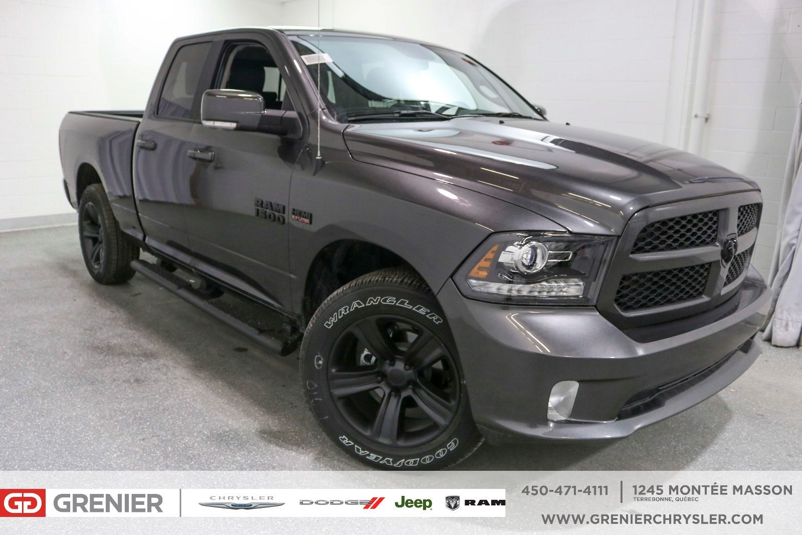 New 2017 Ram 1500 CUIR + BLUETOOTH + MARCHEPIEDS ET MAGS NOIR Grey - $39990.0 | Grenier Chrysler ...