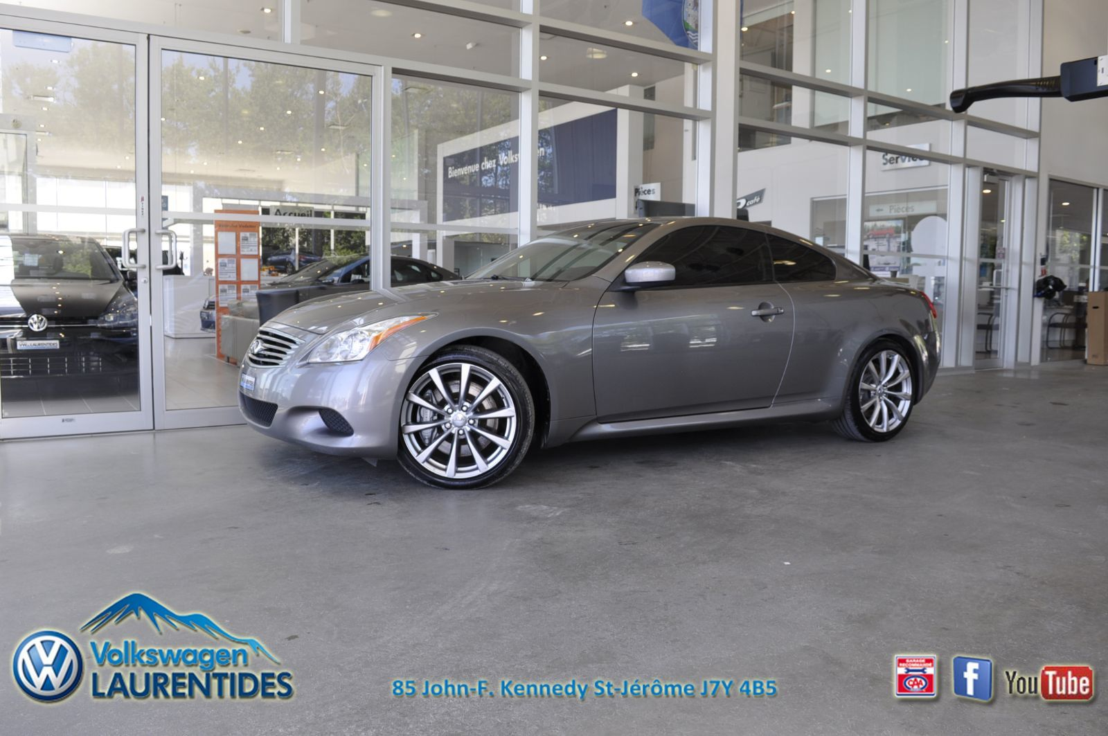 Used 2008 Infiniti G37 Coupe S Grey 182 471 Km For Sale 10495 0 Volkswagen Laurentides 18 634b