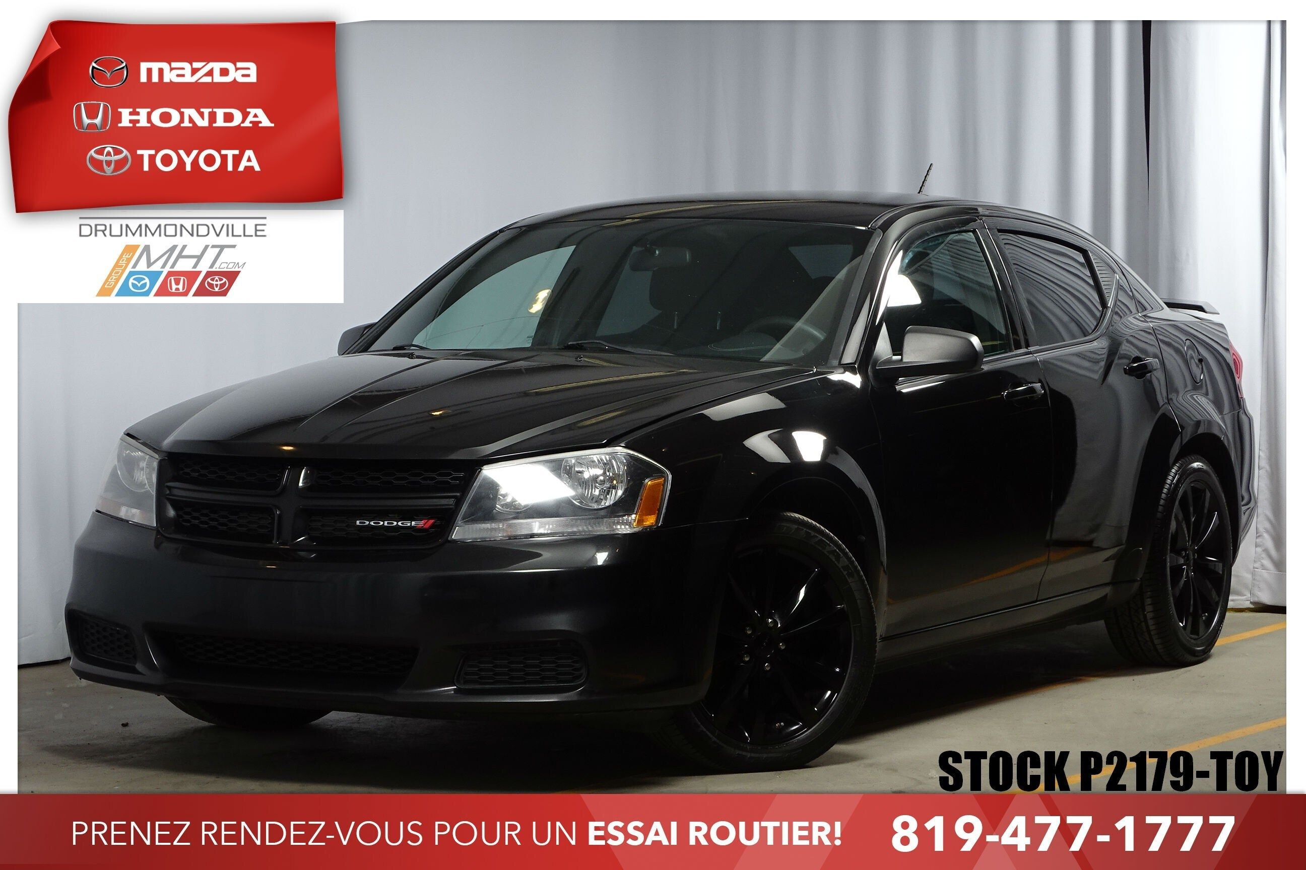 Mazda Drummondville Pre Owned 2013 Dodge Avenger R T Mags Cruise Climatiseur For Sale