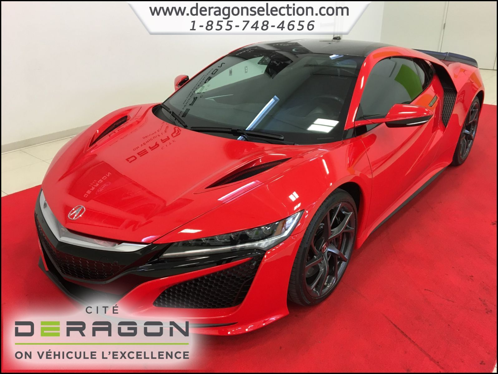 acura nsx sh awd hybride tech pack carbon pack 2017 d 39 occasion cowansville. Black Bedroom Furniture Sets. Home Design Ideas