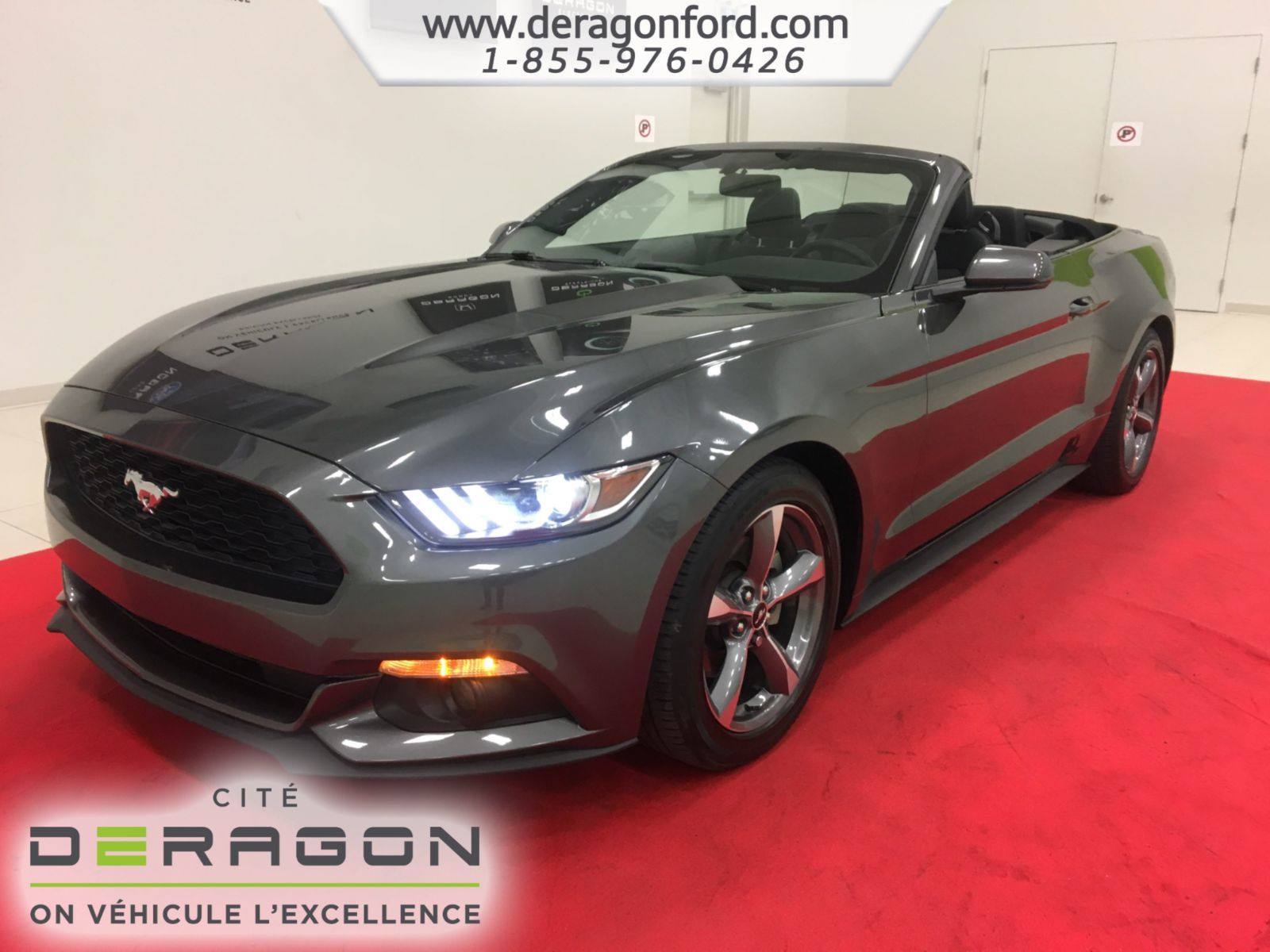 Used 2015 Ford Mustang CONVERTIBLE V6 CAMERA AUTOMATIQUE MAGS 18P